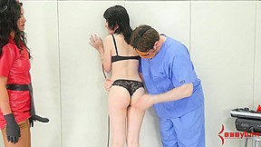 Young goth girls gets punishment with lots of...