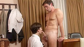 Schoolboy julian faces the principal for punishment and...