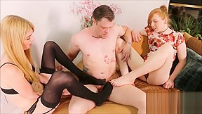 Cock sucking ass eating and feet with...