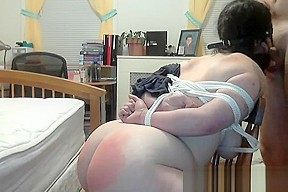 Spanked red analized deep...
