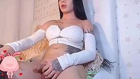 Sexy tranny with fat dick...