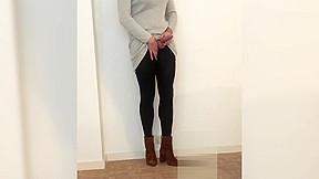 Shemale handsfree pantyhose...
