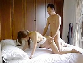 Tease and fucks his sexy asian slut...
