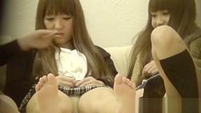 Asian cuties panties seen...