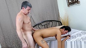 Young dreams of bareback with daddy before cumming...