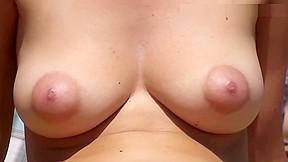 Wonderful boobs topless...