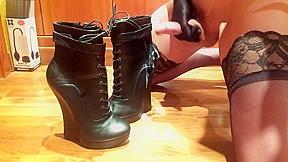 Bondex cum over bdsm pony ankle boots...