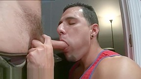 Blowjob and cum eating and erection hidden cam...