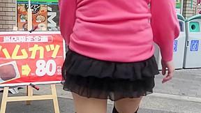 Japanese amateur exposure girl upskirt city...