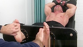 Feet fetish and tickling tormenting with and hun...