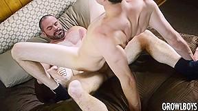 Young man fucked bareback 2x daddy satyr monster...