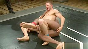 Black muscle wrestling hunk cocksucks jock...