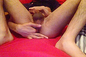 Indian stud jerks off and plays with tight...
