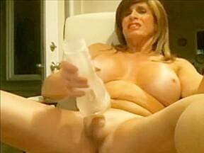 With big boobs masturbates...
