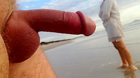 Public erection cfnm encounter between lady and male...