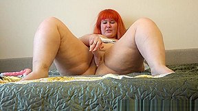 Beautiful fucking with dildo...