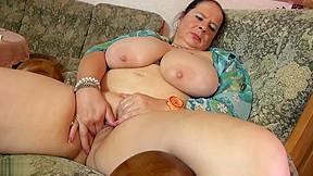 Mom massaging her and vagina...