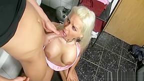Blonde camgirl public restroom...