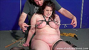 Painslut in rough humiliation and kinky chubby dominated...