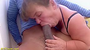 Big natural breast hairy mature midget enjoys her...