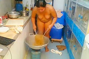 Asian cooking naked...