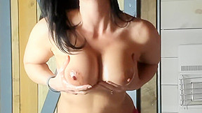 Tits oiled...