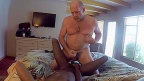 Hot ginger mature bald black tight boy...