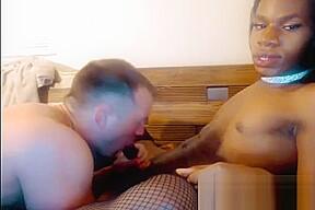 Interracial anal sex guy fucks...