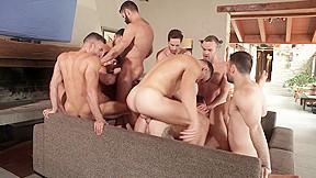 Super hunks orgy...