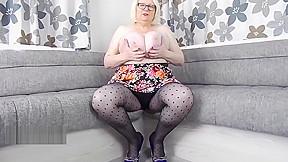 Sally loves her spotty pantyhose...