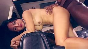 Interracial bareback sex with ladyboy nanny...