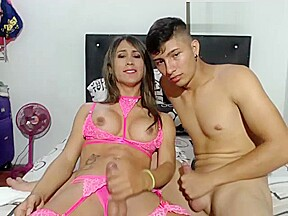 Cute teen latina couple frottage...