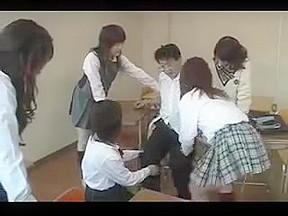 Reverse group sex classroom...