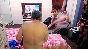 British lady man fuckfest party with 4 girls...