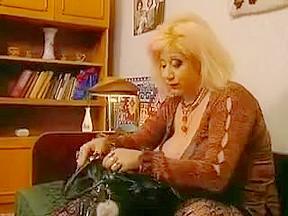 Slutty granny zhanna in stockings rewards voyeur with...