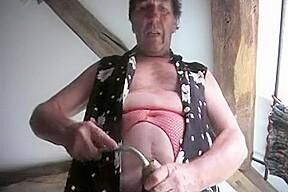 Lingerie pumping pantyhose dildo 87...