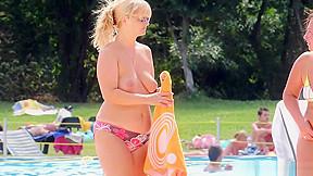 Beach tanning hd voyeur video...