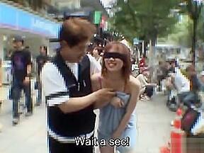 Subtitled extreme exposure blindfold prank...