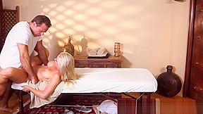 Massage loving beauty pussyfucked by masseur...