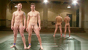 Naked gay post match interview...