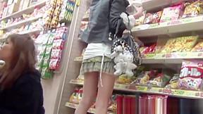 Babes panties get secretly filmed...
