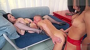 Trans bella husband sharing a shecock...