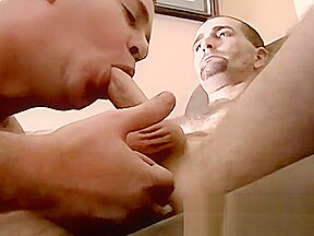 Mature amateur wanks off before getting sucked gay...