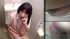 Asians pissing filmed...