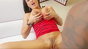 Mature milf brunette huge tits her black friend...
