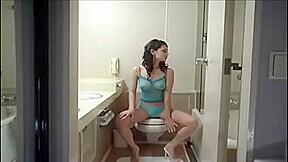 In toilets...