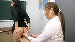 Asian Teacher Gets Her Butt Licked And Fingered By Her Student