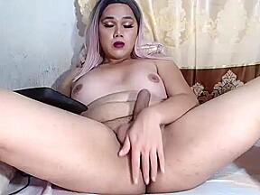 Ladyboy her ass...