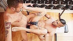 Hot horse cock fucks gay ass gym at...