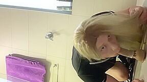 Sissy crossdresser kiyomi super sloppy on dildo...